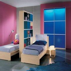 Two Beds Pastel Color Design Teens Bedroom - Karbonix