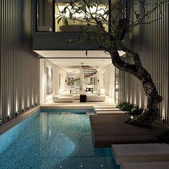 Ultra Chic Singapore Residence With Courtyard Mosaic Pool Inthralld - Karbonix