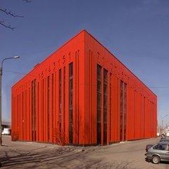 Unique Building Design The Red Barcode Building Viahouse - Karbonix