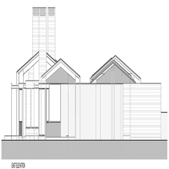 Valley Home East Elevation Layout Plan In Modern Style - Karbonix