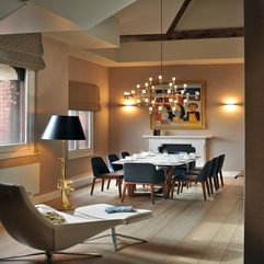 Villa Elegant Apartment Dining Room With Eames Chair In The St - Karbonix