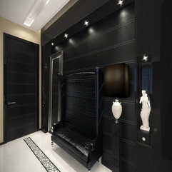 Vintage Apartment Black Hall With White Touches Newhouseofart - Karbonix