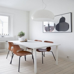 Vintage White Scandinavian Dining Room Design With Vintage White - Karbonix