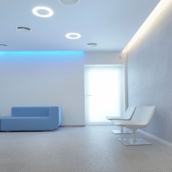Waiting Room Design Of Embryocare Clinic Futuristic Style - Karbonix