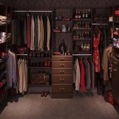 Walk In Closet Design With Dark Wallpaper Dark - Karbonix