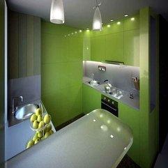 Wall Color Green Kitchen - Karbonix