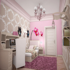 Wall Design In Cute Bedroom Ideas For Teenage Girl Pink Flower - Karbonix