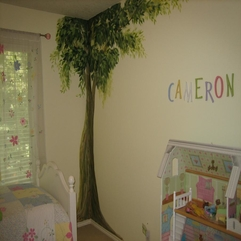 Wall With Trees In The Corner Design - Karbonix