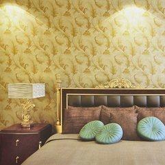 Wallpaper Yellow Bedroom - Karbonix