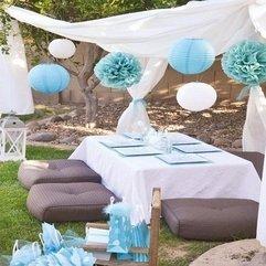 White Alfresco Dining Ideas Blue - Karbonix