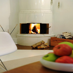 Best Inspirations : White Apartment Interior Ideas In Sweden Fireplace Viahouse - Karbonix
