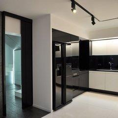 White Apartment Kitchen Design Modern Black - Karbonix