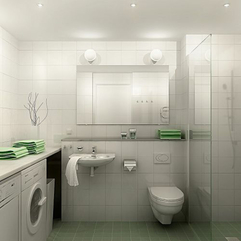 White Bathroom Interior Design Modern Futuristic - Karbonix