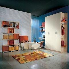 White Bricks Teens Room Ideas Orange And - Karbonix