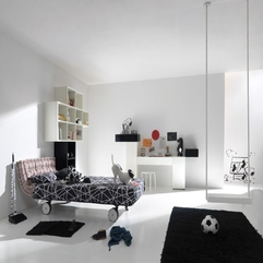 White Kids Room By Lago Modern Black - Karbonix