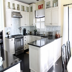 White Kitchen Cabinets Startling Black - Karbonix