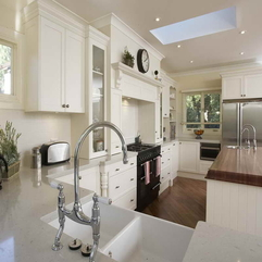 White Kitchen Gallery With The Faucet Get Inspiration - Karbonix