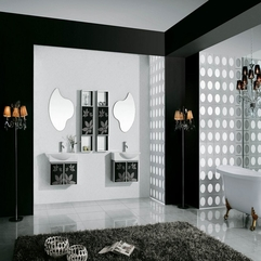 White Modern Bathroom Nice Black - Karbonix