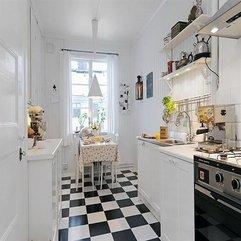 White On Modern Kitchen Flooring Black - Karbonix