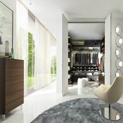 White Small Walk In Built Closet With A Seating Area Grey - Karbonix
