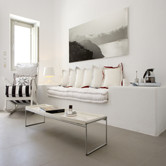 White Sofa At Grace Santorini Hotel Interior Modern - Karbonix
