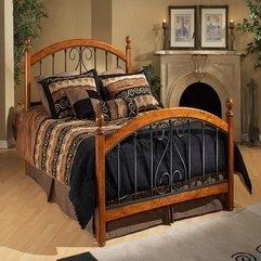 White Traditional Metal Beds Brown - Karbonix