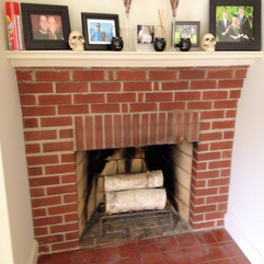 White Washed Fireplace Wife In Progress - Karbonix