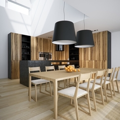 White Wood Kitchen Diner Pendant Shades Modern Black - Karbonix