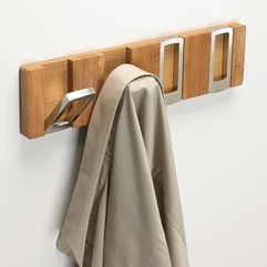 Wood Coat Hooker Silver And - Karbonix