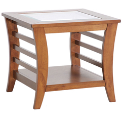 Wood Tables With Glass Rectangular Modern - Karbonix
