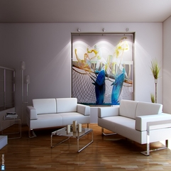 Wooden Floor Art Painting White Living - Karbonix