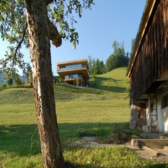 Best Inspirations : Wooden Home With Green Natural Surroundings Two Level - Karbonix