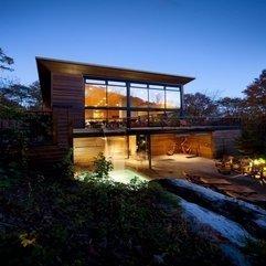 Wooden Minimalist Pavilion Architecture Design By Blouin Tardif - Karbonix