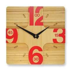 Wooden Wall Hanging Clock Modern Stylish - Karbonix