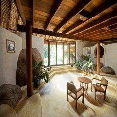 Zen House Interior With Wooden Ceiling Natural Design - Karbonix